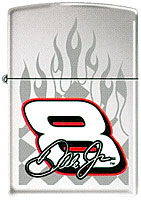 ZIPPO DALE JR. &quot;#8 RACE FLAMES&quot; HIGH POLISH CHROME