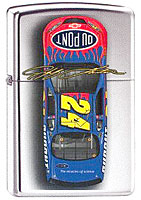 ZIPPO JEFF GORDON &quot;#24 CAR TOP VIEW&quot; - HIGH POLISH CHROME