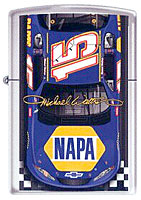 "ZIPPO MICHAEL WALTRIP ""#15 FINISH LINE"" - HIGH POLISH CHROME"