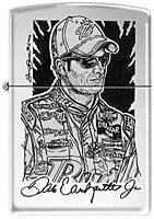 ZIPPO DALE JR. &quot;QUICK SKETCH&quot; - HIGH POLISH CHROME