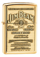 ZIPPO JIM BEAM BRASS EMBLEM - HIGH POLISH BRASS