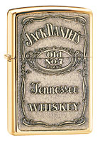 ZIPPO JACK DANIELS LABEL - BRASS EMBLEM
