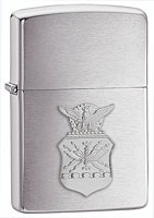 ZIPPO U.S. AIR FORCE CREST EMBLEM - BRUSHED CHROME