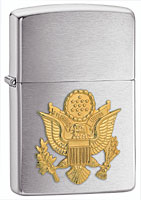 ZIPPO U.S. ARMY EMBLEM - BRUSHED CHROME