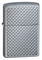 ZIPPO GREY DIAMONDS - SATIN CHROME