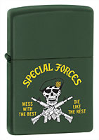 ZIPPO U.S. ARMY SPECIAL FORCES - GREEN MATTE