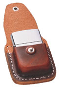 ZIPPO LIGHTER POUCH w/CLIP - BROWN