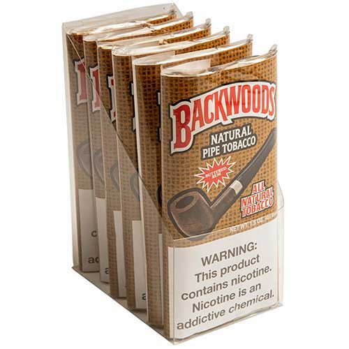 Backwoods Buttered Rum Pipe Tobacco 6 1.5oz Packs