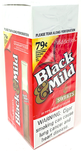 Black and Mild Sweets Cigars 25ct Box Pre Priced