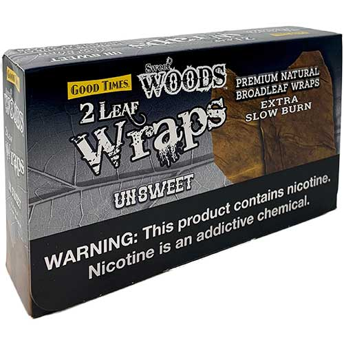 Good Times Sweet Woods Un Sweet Leaf Wraps 10ct