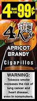 4 Kings Cigarillos Apricot Brandy 15ct Box
