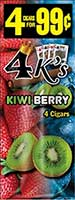 4 Kings Cigarillos Kiwi Berry 15ct Box