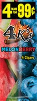 4 Kings Cigarillos Melonberry 15ct Box