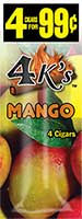 4 Kings Cigarillos Mango 15ct Box