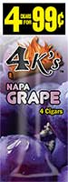 4 Kings Cigarillos Napa Grape 15ct