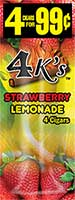 4 Kings Cigarillos Strawberry Lemonade 15ct Box