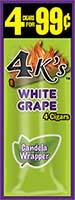 4 Kings Cigarillos White Grape 15ct Box