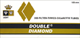 Double Diamond Cigarette Tubes Gold  200ct