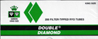 Double Diamond Cigarette Tubes Green 200ct