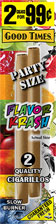 Good Times Cigarillos Flavor Krash Party Size 30ct