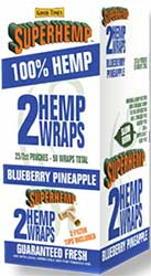 Super Hemp Wraps Blueberry Pineapple 25 2PKS