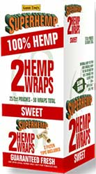 Super Hemp Wraps Sweet 25 2PKS