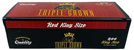 Triple Crown Cigarette Tubes Red King Size 200ct