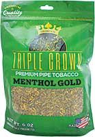 Triple Crown Pipe Tobacco Menthol Gold 6oz