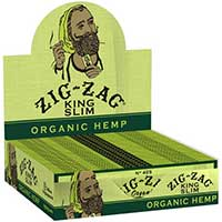Zig Zag Organic Hemp King Rolling Papers 24ct Box