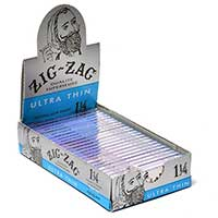 Zig Zag Ultra Thin 1.25 Pre Priced 99c Rolling Papers 24ct Box
