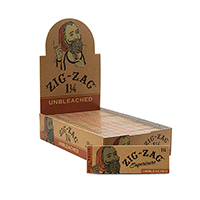 Zig Zag Unbleached 1.25 Rolling Papers 24ct Box