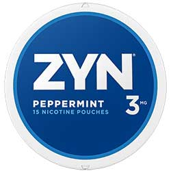 ZYN Nicotine Pouches Peppermint 3mg 5ct
