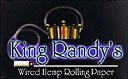 King Randys Wired Hemp Rolling Papers 20ct