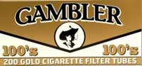 Gambler Gold 100 Cigarette Tubes 200ct