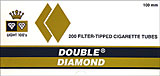 Double Diamond Cigarette Tubes Gold 100 200ct