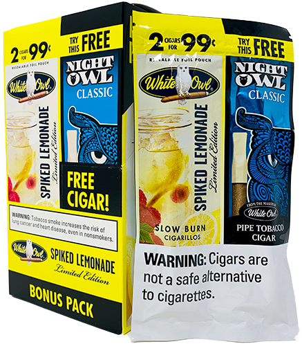 White Owl Cigarillos Spiked Lemonade 15ct