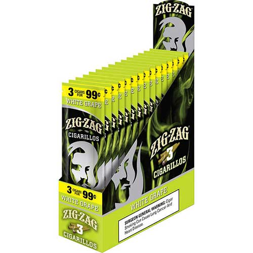 Zig Zag Cigarillos White Grape 15 3pks