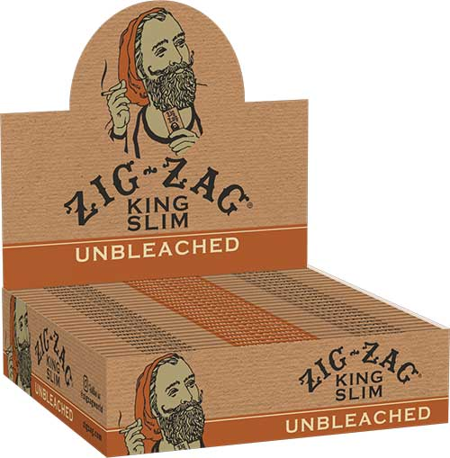 Zig Zag Unbleached King Rolling Papers 24ct Box