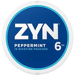 ZYN Nicotine Pouches Peppermint 6mg 5ct