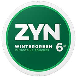 ZYN Nicotine Pouches Wintergreen 6mg 5ct