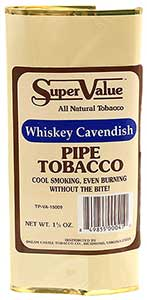 Super Value Whiskey Cavendish Pipe Tobacco 6 Pack